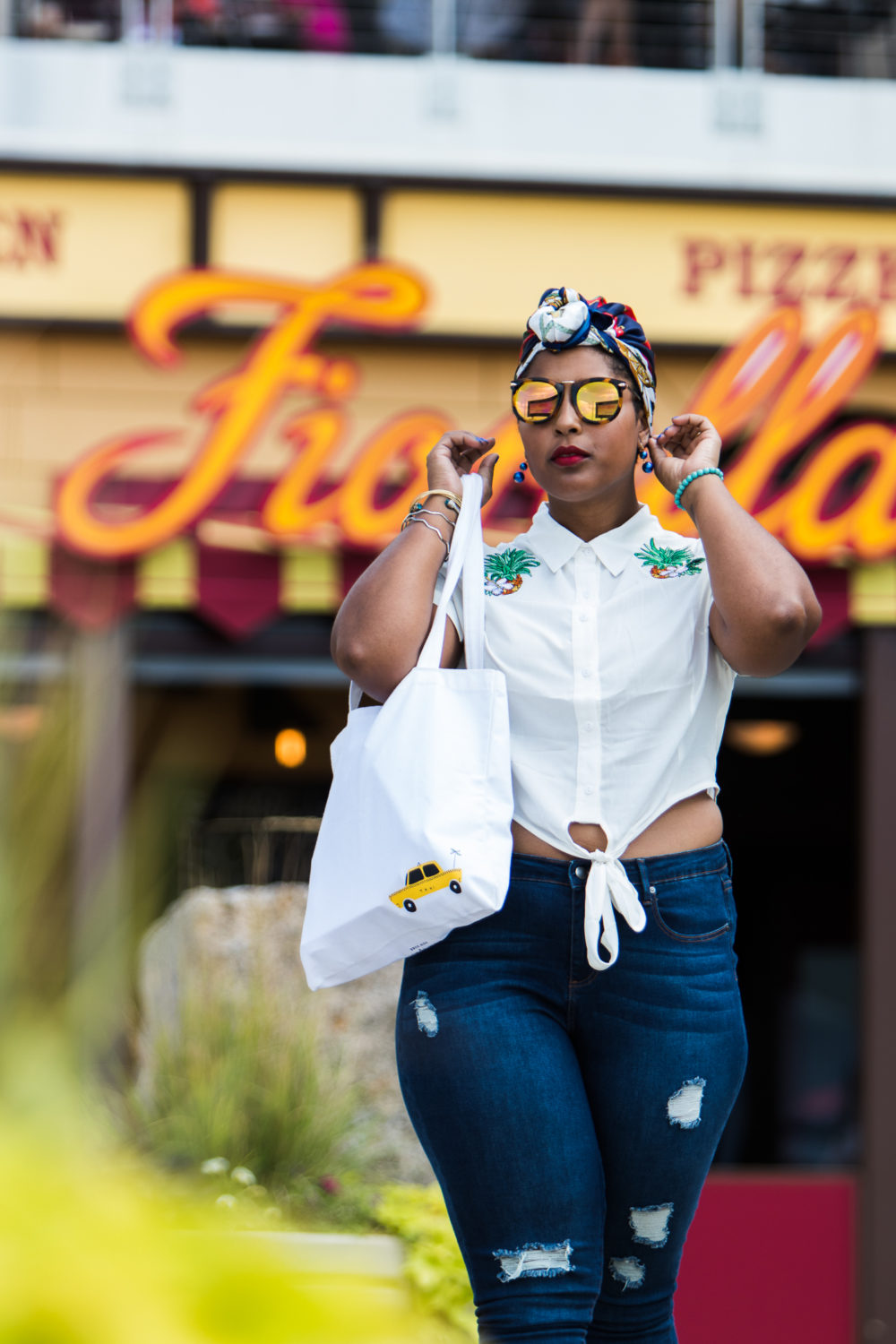 Top DC style blogger wearing modcloth